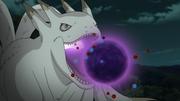 Kokuo usando la Bola Bestia con Cola