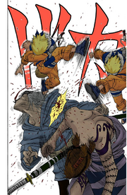 Naruto derrota os capangas de Gatō (Mangá Colorido)
