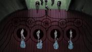 Orochimaru resucitando a los cuatro primeros Hokage