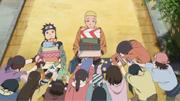 Naruto sendo presenteado