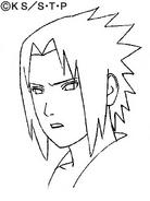 Arte Pierrot - Feição de Sasuke