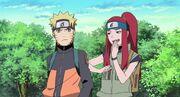 Kushina bromea con Naruto