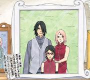 La nueva foto familiar de Sasuke, Sakura y Sarada