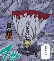 Llegada de Minato al campo de batalla