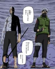 Obito e Kakashi se preparam para lutar