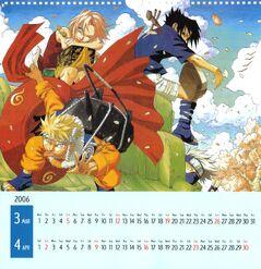 Naruto Calendario 2006 Marzo-Abril Versión A