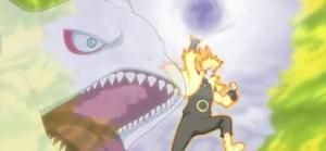 Arte Sabio Rasen Shuriken de Elemento Vapor Anime