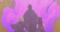 Sasuke protects Boruto and Sarada