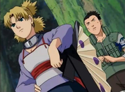 Temari salvando a Shikamaru