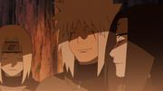 Tsunade, Jiraiya e Orochimaru sobre seus sonhos