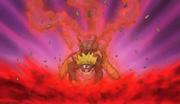 Versión Uno con tres colas de Naruto