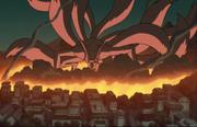 Destrukcja Konohy przez Kyuubiego