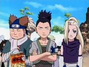 El equipo Asuma en los examenes Chunin