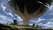 Gaara Stops Meteorite