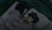 Hinata watches Himawari sleep