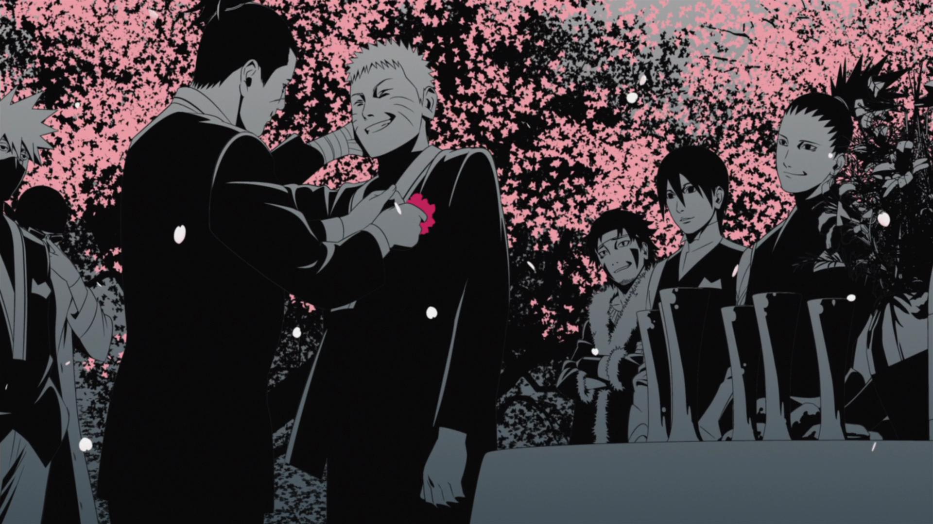 Iruka With Naruto At His Wedding Png