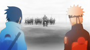 Naruto e Sasuke se veem no passado