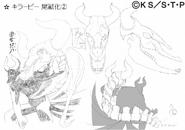 Arte Pierrot - Killer B Versão 2 (Osso)