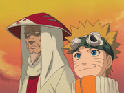 Hiruzen and Naruto