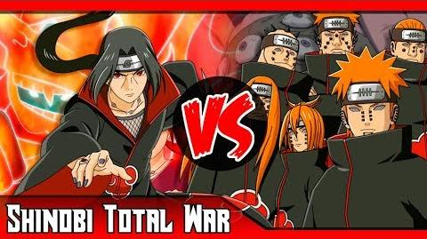 Itachi VS Pain ¿Quién ganaría? (Sharingan VS Rinnegan) SHINOBI TOTAL WAR