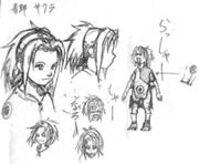 Primeros bocetos de Sakura