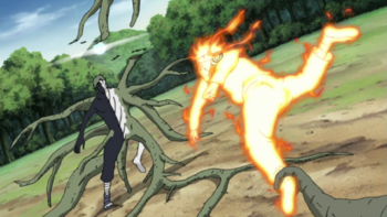 Zetsu using a small scale version of this technique.