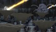 Sunagakure é protegida dos destroços da Lua