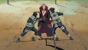 Izumo e Kotetsus atacam Hidan