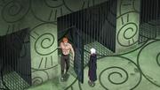Jūgo y Suigetsu escapan de la prision del País del Hierro
