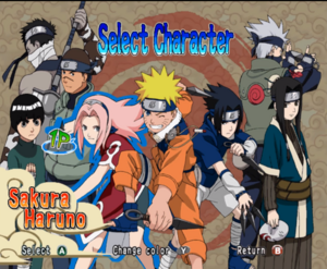 Naruto Clash of ninja - personajes utilizables