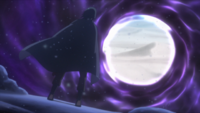 Sasuke tenta abrir o portal