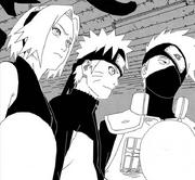 Sakura, Naruto e Kakashi