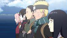 Shikamaru, Sai, Sakura, Naruto y hinata entran al mundo paralelo de Toneri