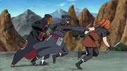 Torune e Fuu lutando contra Tobi