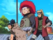 El Equipo Ino-Shika-Cho aparece para salvar a Konoha