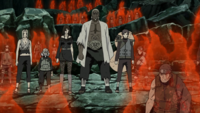 Five Kage arrival
