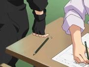 Kankurō entrega as respostas para temari