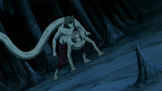 Kabuto using Kimimaro's powers