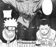 Kimimaro aborda Naruto e Shikamaru