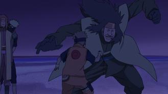 Kongō attacking Naruto
