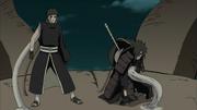 Madara avisa Obito sobre o poder do Dez-Caudas