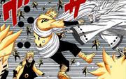 Naruto es golpeado por un hueso pulverizador