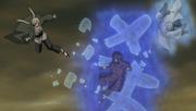 A, Tsunade y Onoki atacan a Madara
