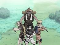 Echipa 7 il protejează pe Tazuna.