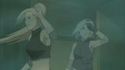 Ino e Sakura vão atrás de Chōji