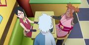 Mitsuki conversa com Sarada e Chocho
