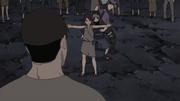 Yukimi protege a Kinoe y a Kakashi