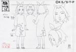 Diseño de Sakura niña por Pierrot