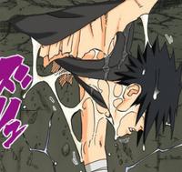 Estilo Orochimaru Substituição do Corpo Sasuke Mangá