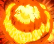Explosión creada por Deidara